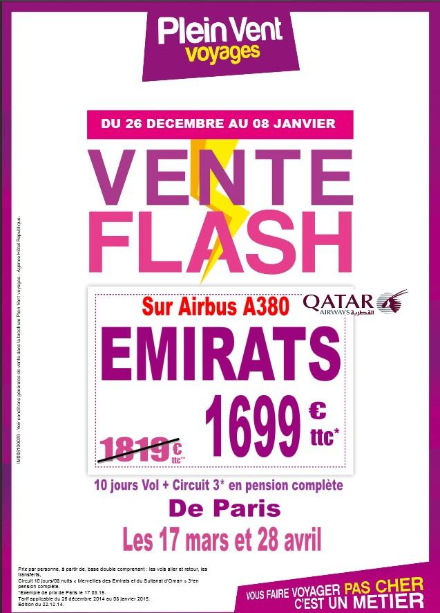 Ventes flash emirats